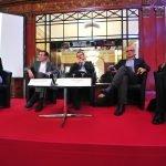 Au Congrès HR' 2014 : Véronique de Corberon (Lafarge), Benoît Vaillant (Alcatel-Lucent), Fabien Claire (AEF), Thierry Curiale (Orange) et Nicolas Rolland (Axa France)
