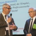 Alexis Hluszko, président du Garf, et François Rebsamen, ministre du Travail, le 4 décembre
