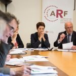 Alain Rousset, président de l'ARF, et Pascale Gérard, vice-présidente, le 5 mai © Hugues-Marie Duclos - ARF
