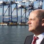 Le maire de Hambourg et ancien ministre du Travail allemand Olaf Scholz.