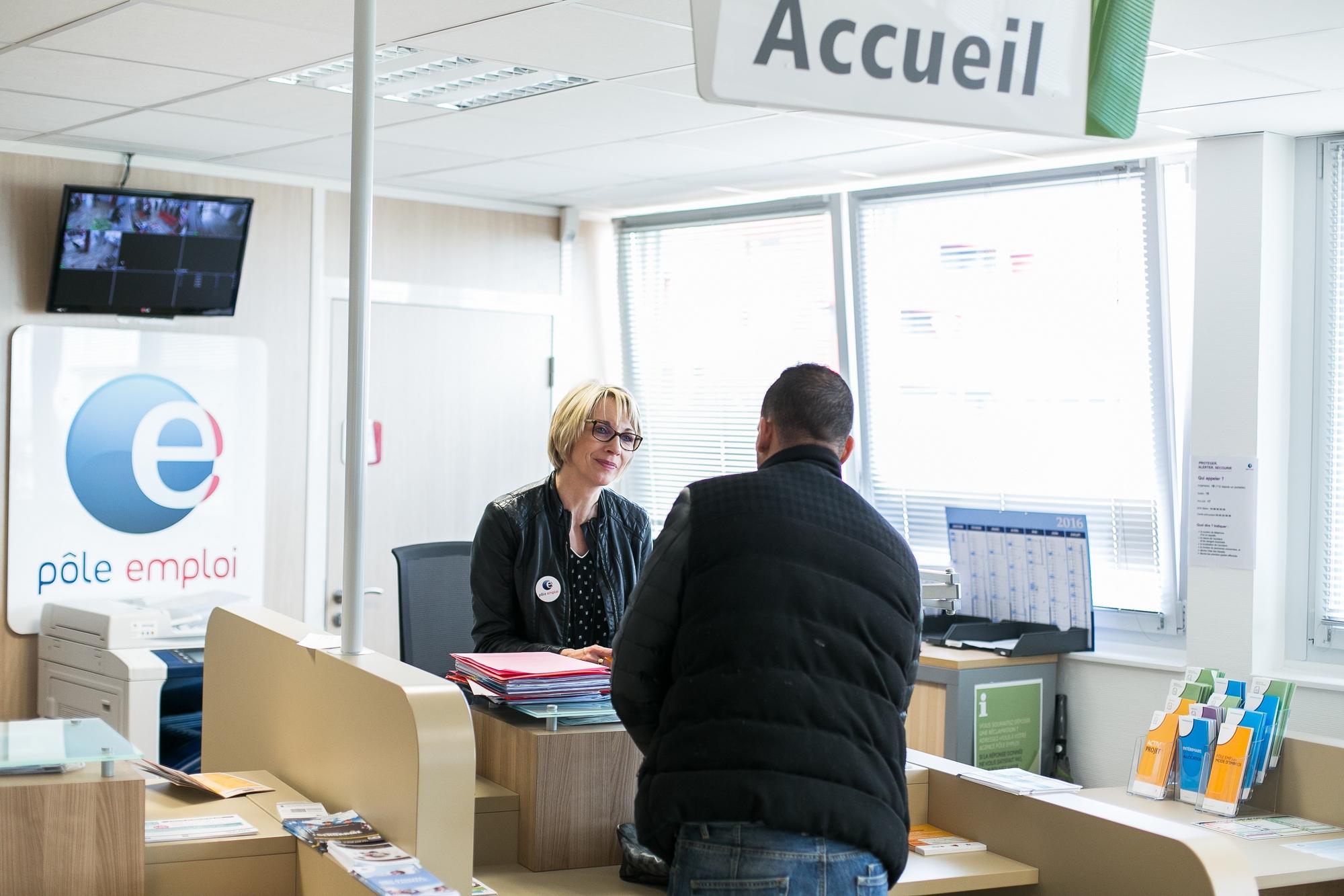 À l'agence Pôle emploi Dijon Nord.