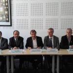 Lors de la conférence de presse organisée par l'UIMM Alpes-Méditerranée, le 15 mai à Marseille.