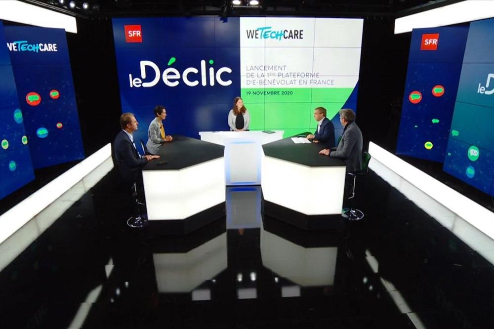 Copie d'écran du webinaire de lancement de la plateforme de e-bénévolat Le Déclic, 19 novembre 2020