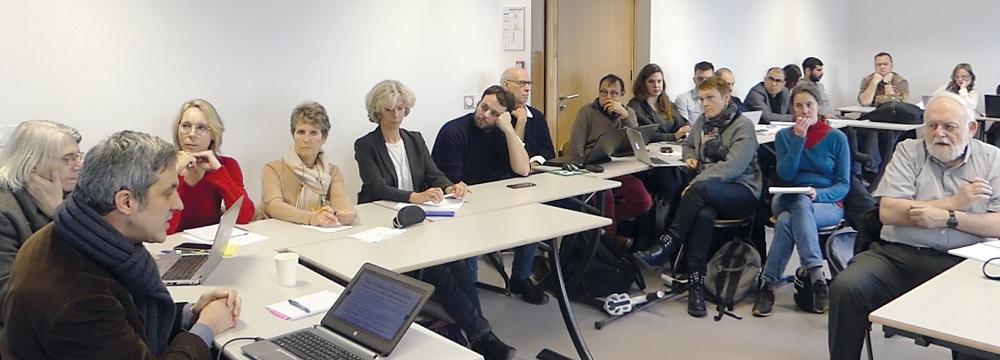 Photo du séminaire 2020 de l'équipe Apprenance, formation, digital - ApForD, université Paris-Nanterre