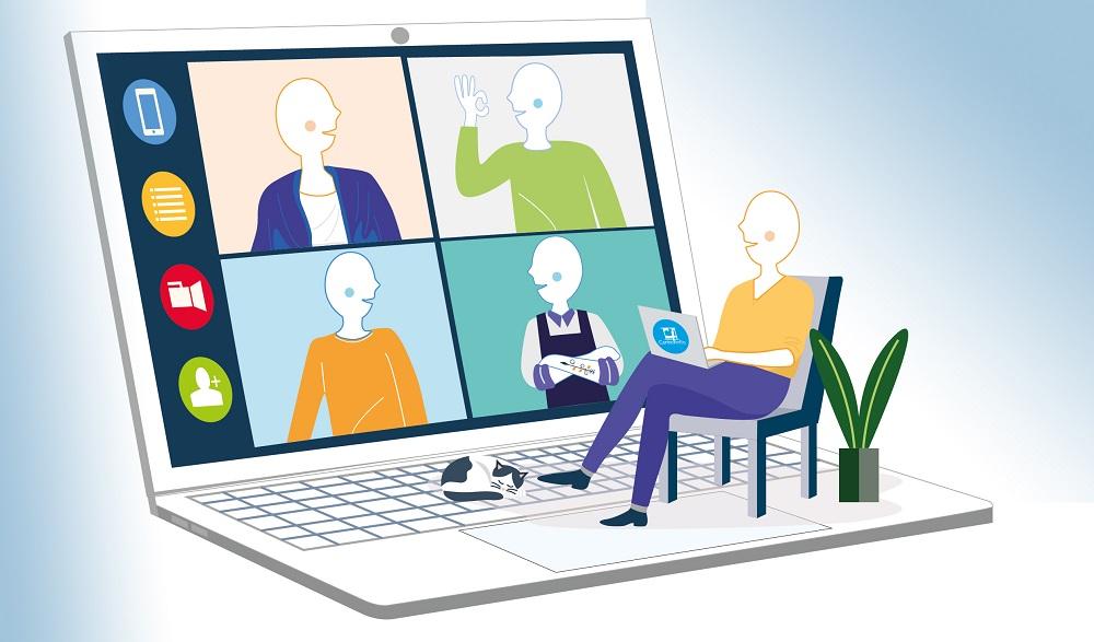 Illustration d'une classe virtuelle