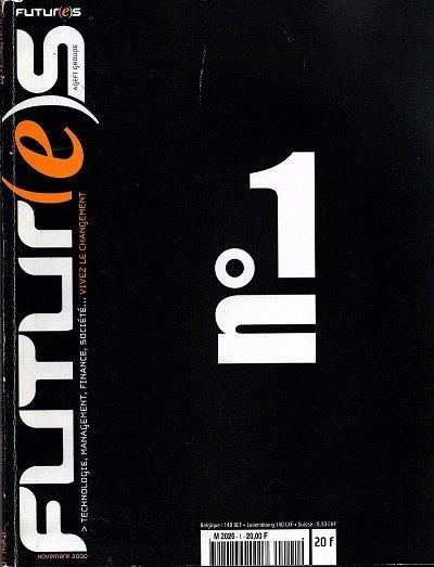 Couverture du n° 1 de la revue Futur(e)s, paru en novembre 2000