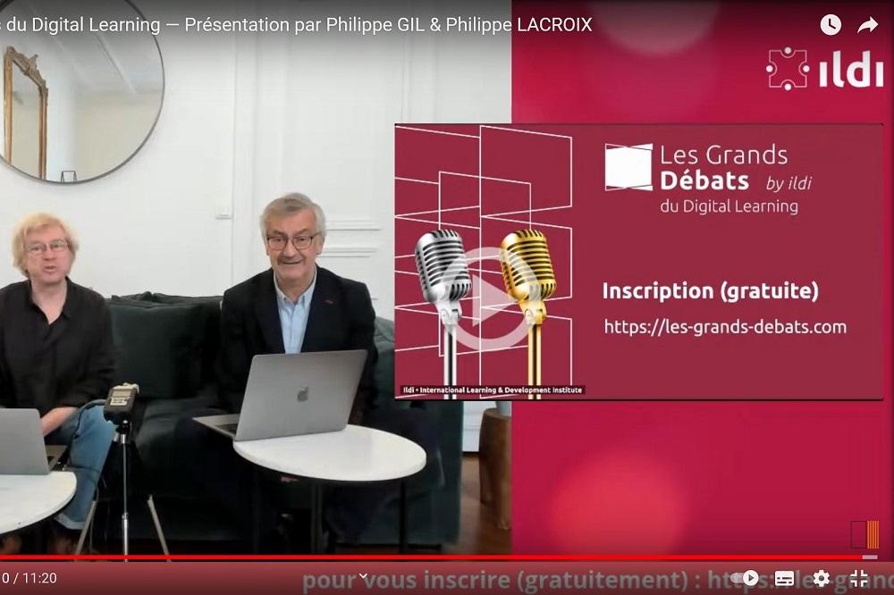Visuel de présentation des Grands débats du digital learning, du 25 au 29 janvier 2021