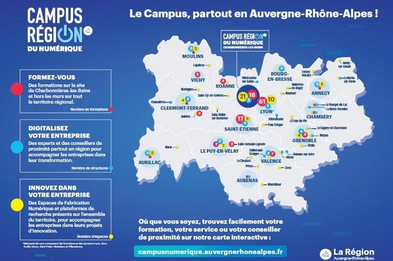 Carte du Campus Région du Numérique hors-les-murs